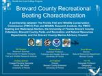 Brevard County Recreational Boating Characterization