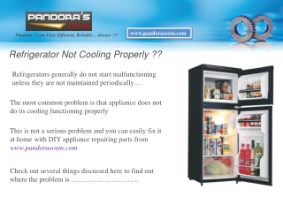 Refrigerator Not Cooling Properly