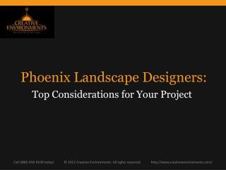 Phoenix Landscape Designers:  Top Considerations