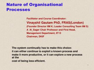 Nature of Organisational Processes