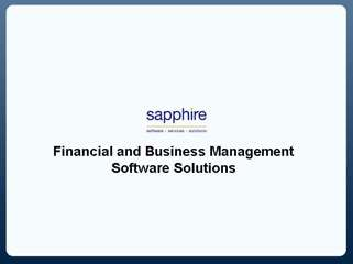 SAP Business One - Sapphire Systems UK