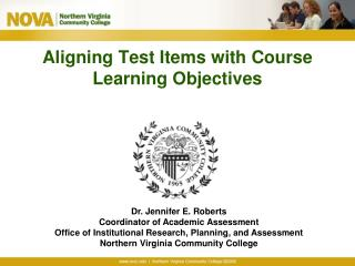Aligning Test Items with Course Learning Objectives