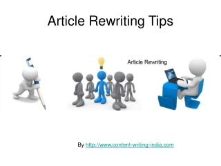 Ideas for Article Rewriting