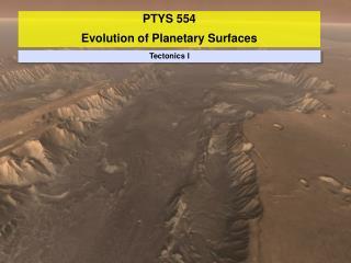 Tectonics I