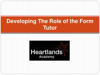 Developing The Role of the Form Tutor