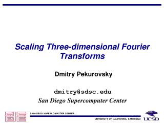 Scaling Three-dimensional Fourier Transforms
