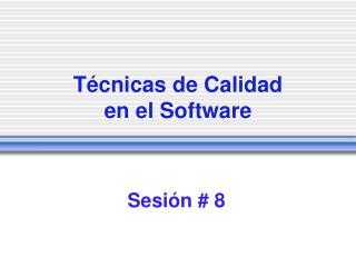 T cnicas de Calidad  en el Software