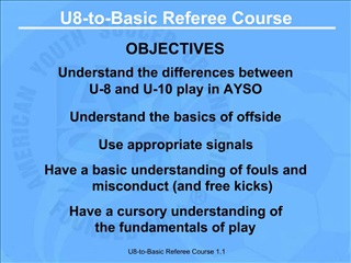 U8-to-Basic Referee Course