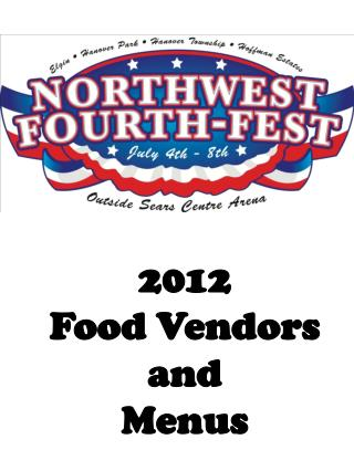 2012  Food Vendors and  Menus