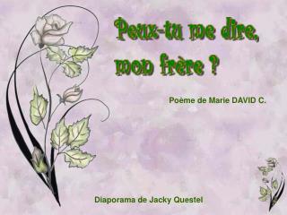 Po me de Marie DAVID C.