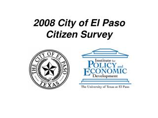 2008 City of El Paso Citizen Survey