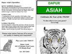 Place your order TODAY  Dapur Asiah 02-29 Shunfu Food Centre 320 Shunfu Road  Tel : 98732691
