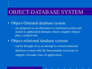 OBJECT-DATABASE SYSTEM