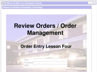 Review Orders