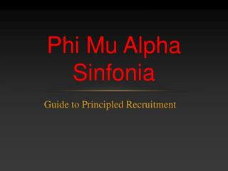 Guide to Principled Recruitment