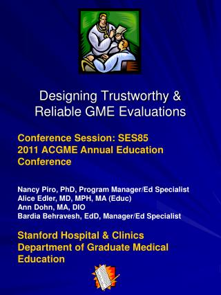 Designing Trustworthy  Reliable GME Evaluations