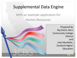 Supplemental Data Engine