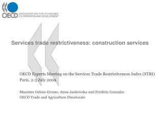 Services trade restrictiveness: construction services