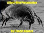 A Dust-Mite Presentation