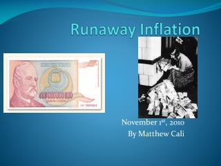 Runaway Inflation