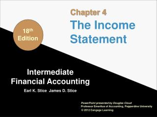 Intermediate Financial Accounting Earl K. Stice  James D. Stice