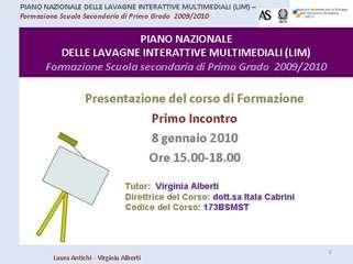 incontro introduttivo formazione LIM corso Vobarno