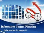 Information System Planning