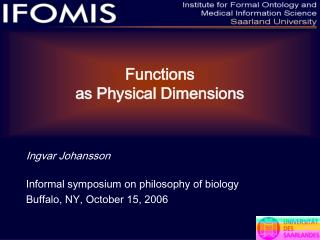 Functions as Physical Dimensions