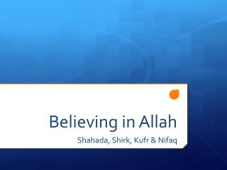Believing in Allah