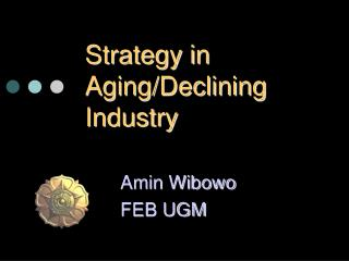 Strategy in Aging
