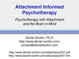 Attachment Informed Psychotherapy