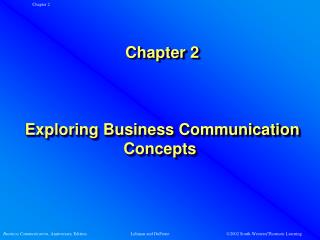 Chapter 2      Exploring Business Communication Concepts