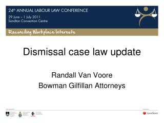 Dismissal case law update