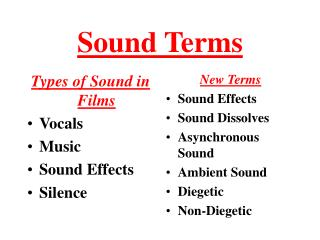 Sound Terms