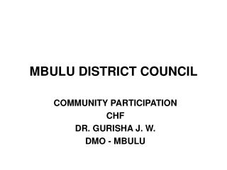 MBULU DISTRICT COUNCIL