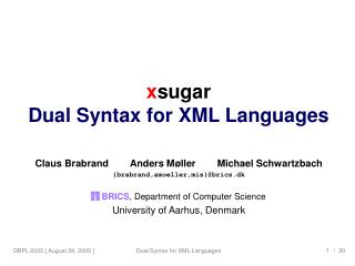 xsugar: Dual Syntax for XML Languages