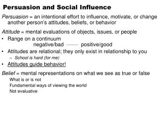 Persuasion and Social Influence