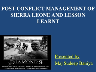 Impact of Land tenure systems on women in Sierra Leone
