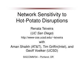 Network Sensitivity to  Hot-Potato Disruptions