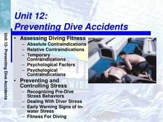 Unit 12:  Preventing Dive Accidents