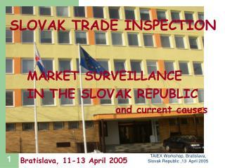 TAIEX Workshop, Bratislava, Slovak Republic ,13  April 2005