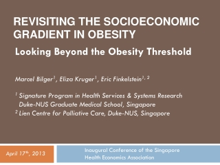 Overview of social disparity in obesity