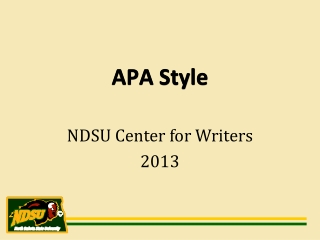 NDSU  Center for Writers