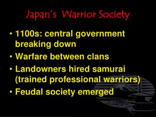 Japan s  Warrior Society