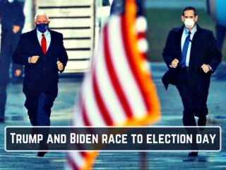Trump and Biden race to election day
