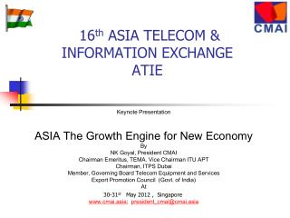 16th ASIA TELECOM  INFORMATION EXCHANGE ATIE