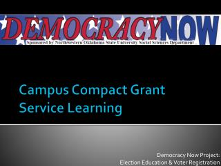 Campus Compact Grant Service Learning