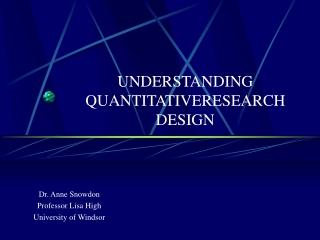 Non-Experimental Research