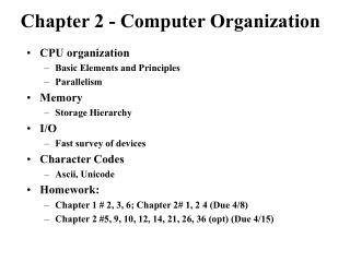 Chapter 2 - Computer Organization