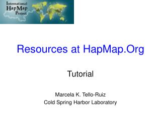 Resources at HapMap.Org
